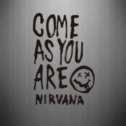 Наклейка Come as you are Nirvana