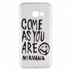 Чехол для Samsung A3 2017 Come as you are Nirvana - FatLine