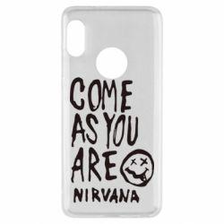 Чехол для Xiaomi Redmi Note 5 Come as you are Nirvana - FatLine