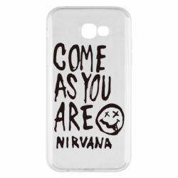 Чехол для Samsung A7 2017 Come as you are Nirvana - FatLine