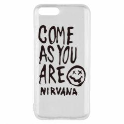 Чехол для Xiaomi Mi6 Come as you are Nirvana - FatLine