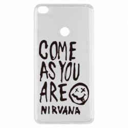 Чехол для Xiaomi Mi Max 2 Come as you are Nirvana - FatLine