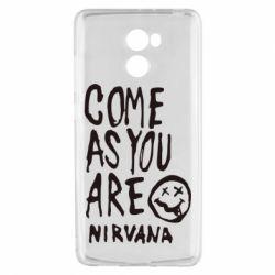 Чехол для Xiaomi Redmi 4 Come as you are Nirvana - FatLine