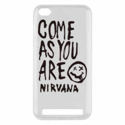 Чехол для Xiaomi Redmi 5a Come as you are Nirvana - FatLine