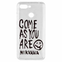 Чехол для Xiaomi Redmi 6 Come as you are Nirvana - FatLine