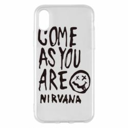 Чехол для iPhone X Come as you are Nirvana - FatLine