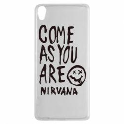 Чехол для Sony Xperia XA Come as you are Nirvana - FatLine