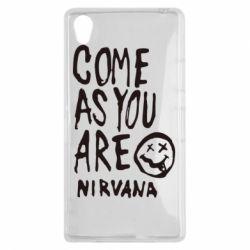 Чехол для Sony Xperia Z1 Come as you are Nirvana - FatLine