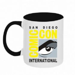 Кружка двоколірна 320ml Comic-Con International: San Diego logo
