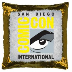 Подушка-хамелеон Comic-Con International: San Diego logo