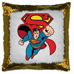 Подушка-хамелеон Comics Superman
