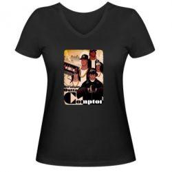 Женская футболка с V-образным вырезом Compton's NWA - FatLine