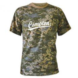 Камуфляжная футболка Compton Vintage