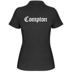 Женская футболка поло Compton