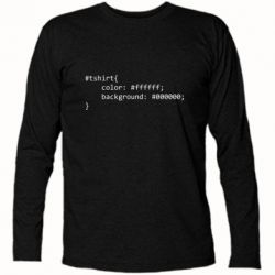 Футболка з довгим рукавом Computer code for t-shirt