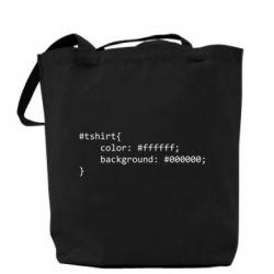 Сумка Computer code for t-shirt