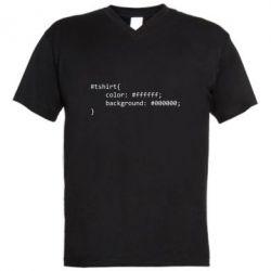 Чоловіча футболка з V-подібним вирізом Computer code for t-shirt