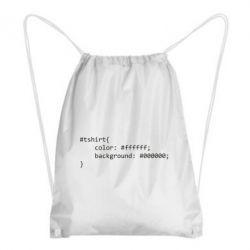 Рюкзак-мішок Computer code for t-shirt