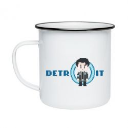 Кружка емальована Connor from the game Detroit: Become a Man