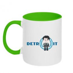 Кружка двоколірна 320ml Connor from the game Detroit: Become a Man