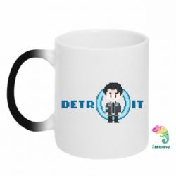 Кружка-хамелеон Connor from the game Detroit: Become a Man