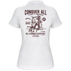 Жіноча футболка поло Conquer All - FatLine