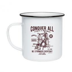 Кружка емальована Conquer All
