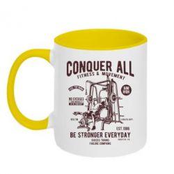 Кружка двоколірна Conquer All - FatLine