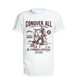 Подовжена футболка Conquer All