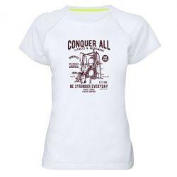 Жіноча спортивна футболка Conquer All