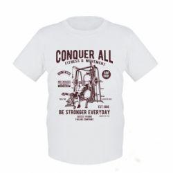 Дитяча футболка Conquer All - FatLine
