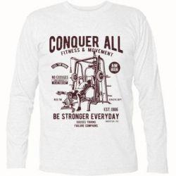Футболка з довгим рукавом Conquer All