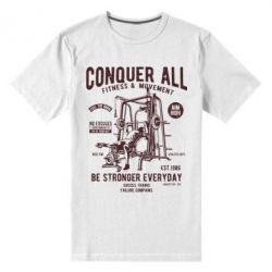 Чоловіча стрейчева футболка Conquer All - FatLine