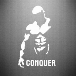 Наклейка Conquer - FatLine