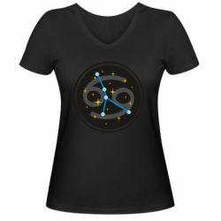 Жіноча футболка з V-подібним вирізом Constellation cancer