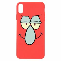 Чехол для iPhone Xs Max Contented emoticon with a big nose
