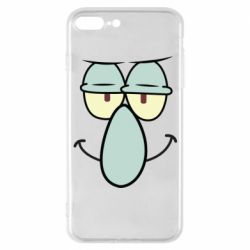 Чехол для iPhone 7 Plus Contented emoticon with a big nose