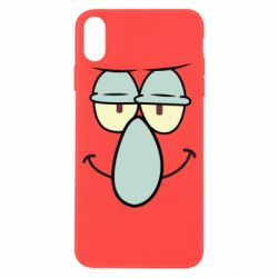 Чехол для iPhone X/Xs Contented emoticon with a big nose