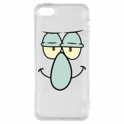 Чехол для iPhone5/5S/SE Contented emoticon with a big nose
