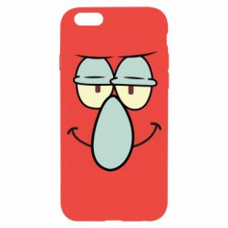 Чехол для iPhone 6/6S Contented emoticon with a big nose