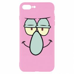 Чехол для iPhone 8 Plus Contented emoticon with a big nose