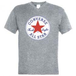 Чоловіча футболка з V-подібним вирізом Converse