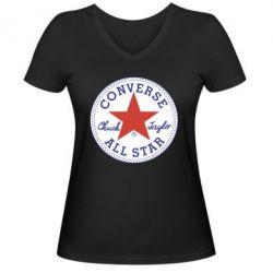 Жіноча футболка з V-подібним вирізом Converse
