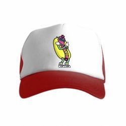 Дитяча кепка-тракер Cool hot dog