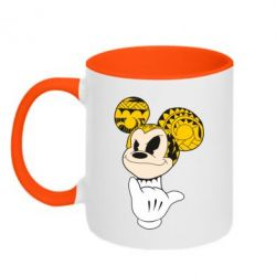 Кружка двухцветная Cool Mickey Mouse - FatLine