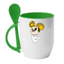 Кружка с керамической ложкой Cool Mickey Mouse - FatLine