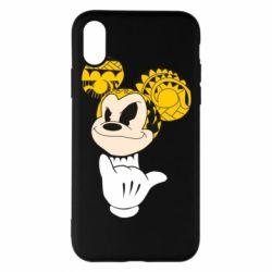 Чехол для iPhone X Cool Mickey Mouse - FatLine