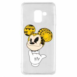 Чехол для Samsung A8 2018 Cool Mickey Mouse - FatLine
