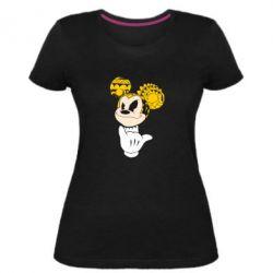 Женская стрейчевая футболка Cool Mickey Mouse - FatLine