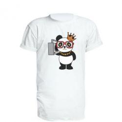 Подовжена футболка Cool panda